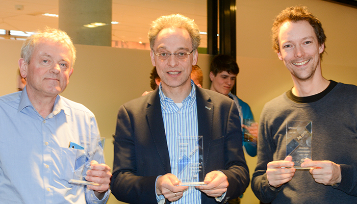From left to right: Klaas Sikkel (2), Boudewijn Haverkort (1) en Dennis Reidsma (3)
